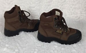 New Cabela's Men Dark Brown Suede Gore-Tex Hiking  Boots Shoes Sz W5.5B 80027309