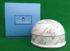 WEDGWOOD - JOSIAH BICENTENARY DOME PAPERWEIGHT - BOXED.