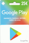 25€ CA Google Play Gift Card GREEK STORE ONLY. FREE SHIP ABSOLUTELY GENUINE!!