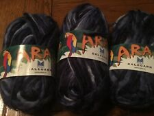 Dale of Norway Ara 15747 BLUES  50 gram skein LOT of 3