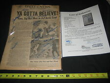1973 METS NATIONAL LEAGUE CHAMPIONS (19) TEAM SIGNED DAILY NEWS PAPER JSA LOA