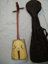 Horse head Mongolia 2 string instrument, with bow and soft case , Morin Khuur