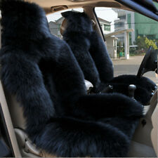 1pc Black Sheepskin Fur Car Seat Cover One Size Fit most(Universal Fit) US stock