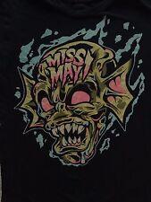MISS MAY I SKULL T Tee Shirt  Metalcore Band Ohio Music Size small