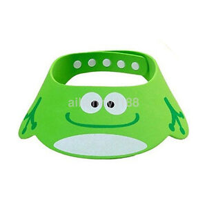Baby Cartoon Wash Hair Shield Bath Hat Shampoo Ear Eye Protector Shower Cap New