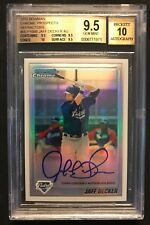2010 BOWMAN CHROME PROSPECTS REFRACTOR JAFF DECKER AUTO BGS 9.5 AND 10