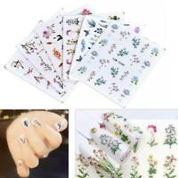 Nail Art Stickers Decals Transfers Vintage Flowers Leaf Nail Art Metallic Colors