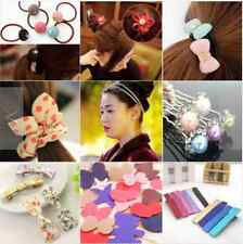 8pcs Lot Assorted Korean Elastic Hair Band Clip Bow Tie Cute ponytail holder NEW