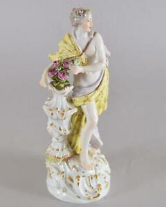 "Meissen Porcelain Allegorical Figure of Spring Model 2730 Modeled ca 1760 8 3/4"""