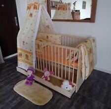 Lit Bébé à Barreaux Enfant Complet Lot 70x140 Convertible 5 Couleurs Tiroir