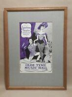 Framed Original Vintage Sunshine THEATRE programme Old Tyme Music Hall Margate