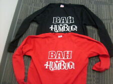 Christmas Holiday BAH HUMBUG!! sweatshirts XXL Hanes Activewear Black and Red
