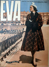 """* EVA N°39/ 23/SET/1950 * Rivista per la donna italiana diretta da """" Sonia """" *"""
