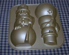 2009 Nordic Ware Williams Sonoma Standing 3D Snowman Cake Pan NEW in BOX  USA