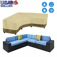 Furniture Cover Outdoor V-Shaped Sectional Sofa Cover Premium Couch Waterproof