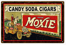 Moxie Candy, Soda, Cigars Country Ad Reproduction Sign