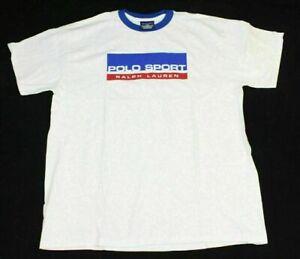 NFS New Promo Polo Sport Ralph Lauren Ringer Mens White T Shirt