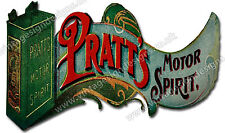 "PRATTS MOTOR SPIRIT DIGITALLY CUT OUT VINYL STICKER. 5.5"" X 3.5"" OVERALL SIZE"
