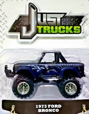 JADA TOYS JUST TRUCKS 1973 FORD BRONCO BLACK REAPER 1/64 Scale Diecast