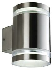 Saxby Culo GX53 IP44 2 x 9 Watt Stainless Steel Low Energy Wall Light .Up - Down