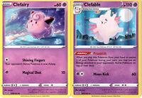 Rebel Clash - Pokemon Evolution Card Set - Clefable 075/192 - Sword Shield Holo