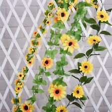 1PCS TopArtificial Sunflower Garland Silk Flower Vine Wedding Fence Decorationgg