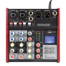 Citronic Csm-4 Compact Mixer 4ch Bluetooth USB Digital FX Mixing Desk Studio