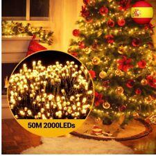 Guirnalda Luce de Navidad 2000Leds, Ulinek 50M Cadena de Luces Exterior