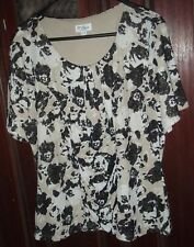 MILLERS POLYESTER DOUBLE LINED RUCHED FRONT TOP PLUS SIZE 22