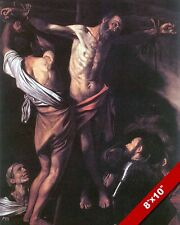CRUCIFIXION OF ST ANDREW APOSTLE OF JESUS CHRIST PAINTING BIBLE ART CANVASPRINT