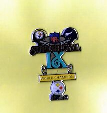 Pittsburgh Steelers Super Bowl IX 9 Champions Large Dangle Football Hat Pin
