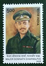 INDIA 2003 Major Somnath Sharma Param Veer Chakra Medal 1st Recipient stamp