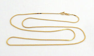 """VTG Solid 18K Yellow Gold Necklace 1.5mm Wide 23 -1/2"""" Long 4.9 Grams 750 Italy"""