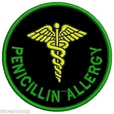 Our NEW Range of Medical Alert Embroidered Patches - Penicillin Allergy
