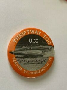 SEAFAIR BOAT CLUB 1997 THRIFTWAY TOO COMMEMORATIVE HYDROPLANE BUTTON HYDRO PIN