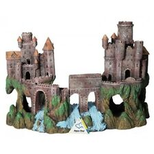 Aqua One Large Medieval Castle with River  Aquarium Fish Tank Resin Ornament