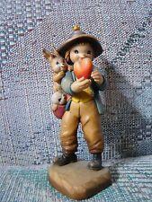 Anri Ferrandiz Will You Be Mine? Boy Bunnies Heart Wood Carved '87 Club Figurine
