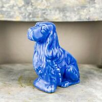 Vintage Blue Cocker Spaniel Dog Planter AS IS
