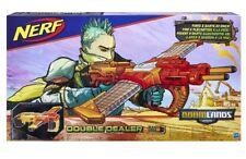 NERF Doomlands 2169 Double Dealer Blaster Gun 24 Soft Darts & Clips Official