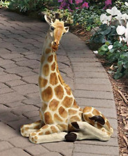 OUTDOOR GIRAFFE STATUE African Safari Savannah Jungle Garden Yard Lawn Sculpture