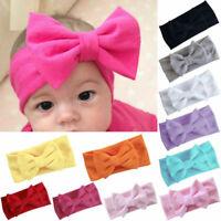 Mädchen Kinder Baby Baumwolle Schleife Haarband Stirnband Stretch Turban Knoten