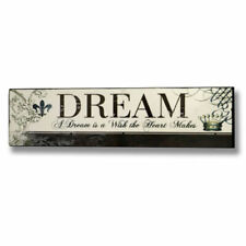 DREAM Wish Wooden Wall Plaque Sign Home Decor Decorative gift