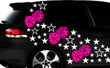 93-teiliges Sterne Würfel Cube Star Auto Aufkleber Tuning WANDTATTOO Blumen mn