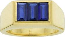 Echte Saphir Edelstein Ringe aus Gelbgold mit Cabochon Schlifformen