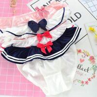 4pcs Japanese Lolita Bow Girl knickers Women Panties Underwear Briefs Preppy