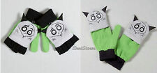 Disney Frankenweenie Sparky Dog Knit Fingerless Cosplay Costume Gloves Mittens