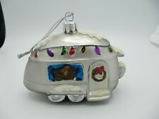 Silver Camper RV Airstream Christmas Ornament