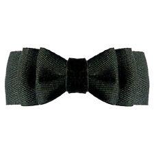 Barrette Française Pince à Cheveux noeud noir classique  gothique velours tissu