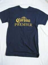 Corona Premier Mens Cerveza T-Shirt Size S Blue Gold w/Crown New  Free Shipping