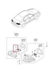 (1) Tail Lamp Bulb Genuine 1864316004N Fits Various 2004-2017 Hyundai / Kia